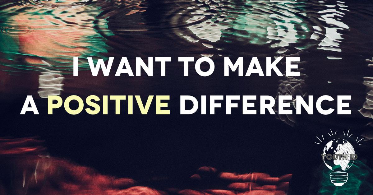 """""""make a positive difference"""" Malek Abualfailat"""